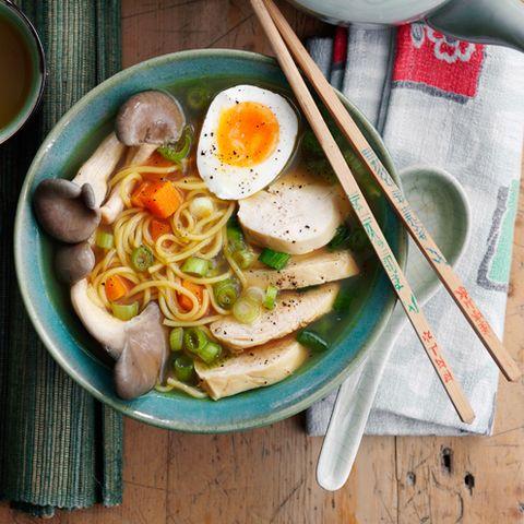 Food, Ingredient, Egg yolk, Serveware, Soup, Dish, Tableware, Finger food, Meal, Dishware,