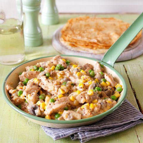 Chicken and Veggie Pancakes