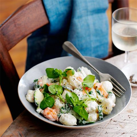 best courgette recipes smoked salmon gnocchi