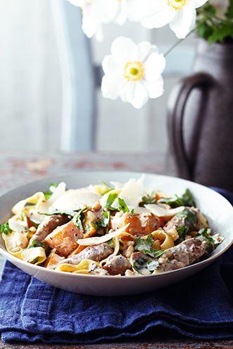 Pumpkin recipes -Pumpkin and pork pasta