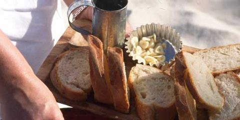 Food, Ingredient, Bread, Cutting board, Cooking, Breakfast, Kitchen knife, Baked goods, Gluten, Meal,