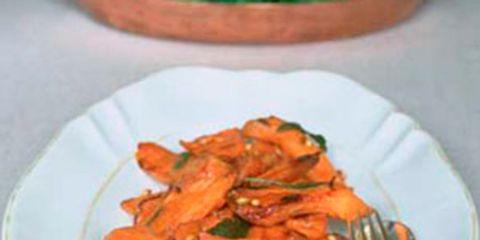 dishware, food, orange, serveware, tableware, plate, ingredient, produce, recipe, kitchen utensil,