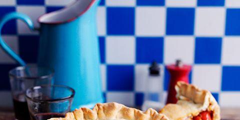 Food, Cuisine, Dish, Ingredient, Pie, Baked goods, Finger food, Tableware, Drinkware, Recipe,