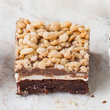Marshmallow crunch brownies