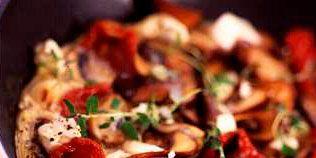 best feta recipes panfried mushroom and feta omelette