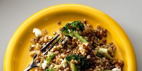 best feta recipes hot lentil and feta salad