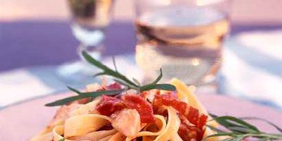 best chicken pasta recipes pappardelle with chicken, parma ham and tarragon