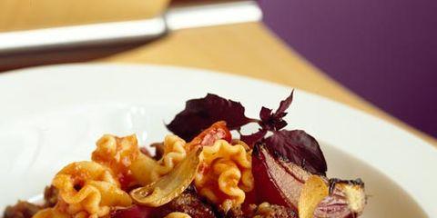 Food, Cuisine, Pasta, Ingredient, Dishware, Dish, Tableware, Recipe, Culinary art, Garnish,