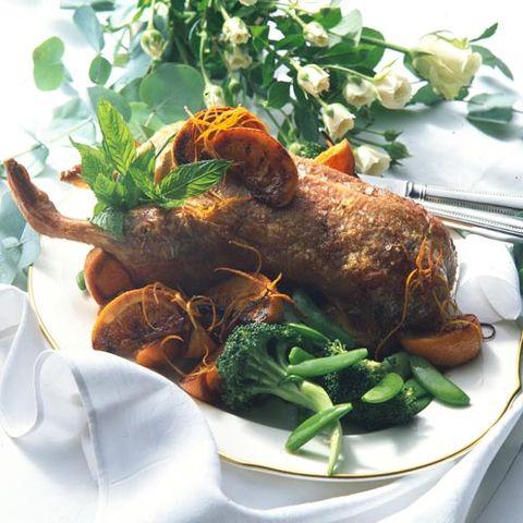 roast duck and orange sauce