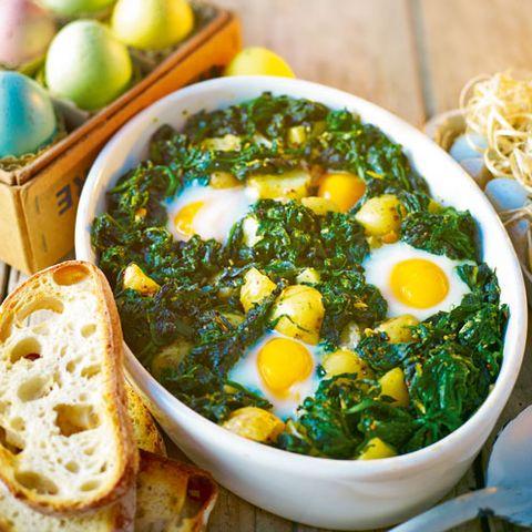 best egg recipes baked eggs florentine