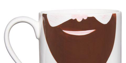 Serveware, Drinkware, Cup, Dishware, Tooth, Ceramic, Mug, Moustache, Pottery, Clip art,