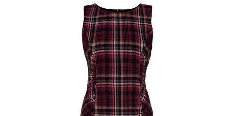 Plaid, Product, Tartan, Brown, Pattern, Textile, Red, White, Collar, Style,