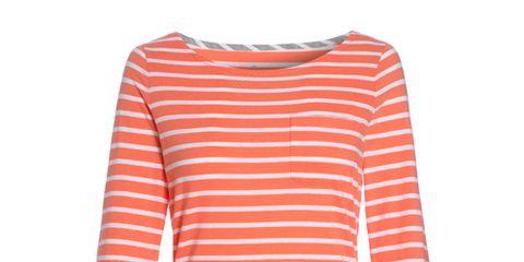 Sleeve, Shoulder, White, Orange, Neck, Pattern, Peach, Sweatshirt, Long-sleeved t-shirt, Active shirt,