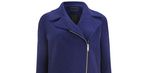 Clothing, Blue, Product, Collar, Sleeve, Coat, Textile, Outerwear, Jacket, Electric blue,