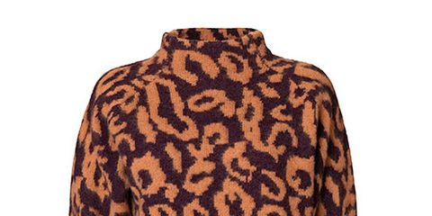 Clothing, Product, Brown, Sleeve, Coat, Collar, Textile, Pattern, Outerwear, Sweater,