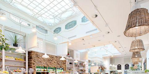 Interior design, Furniture, Table, Ceiling, Light fixture, Interior design, Lampshade, Lighting accessory, Home accessories, Ceiling fixture,