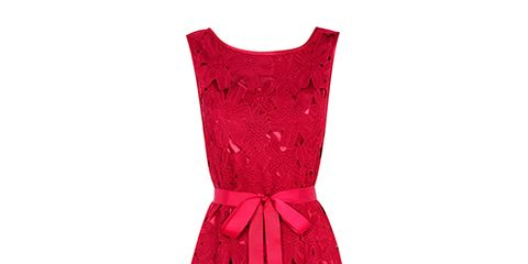 Product, Dress, Textile, Red, One-piece garment, Pattern, Formal wear, Day dress, Fashion, Magenta,
