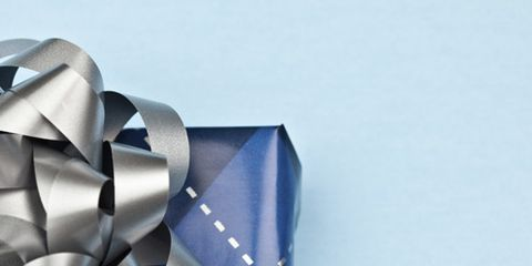 Blue, Ribbon, Pattern, Electric blue, Paper product, Silver, Craft, Paper,