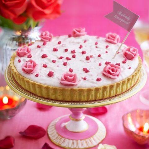 Cuisine, Sweetness, Food, Dessert, Ingredient, Pink, Cake, Baked goods, Dish, Serveware,