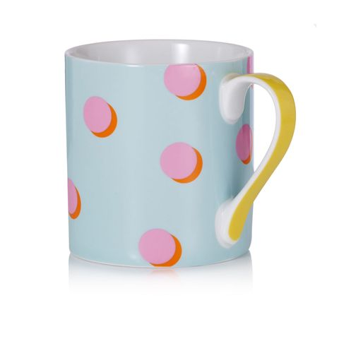 Serveware, Drinkware, Cup, Dishware, Pink, Tableware, Porcelain, Ceramic, Orange, Teal,