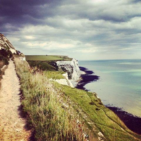 Coastal and oceanic landforms, Coast, Natural landscape, Shore, Terrain, Headland, Promontory, Ocean, Raised beach, Sea,