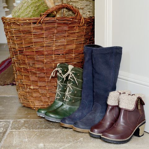 Boot, Basket, Storage basket, Wicker, Work boots, Leather, Snow boot, Steel-toe boot, Motorcycle boot, Synthetic rubber,