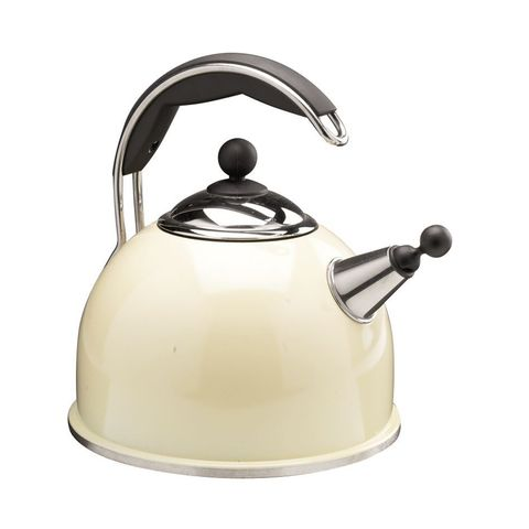 Stovetop kettle, Cookware and bakeware, Lid, Kitchen appliance, Metal, Kitchen appliance accessory, Home appliance, Small appliance, Silver, Machine,
