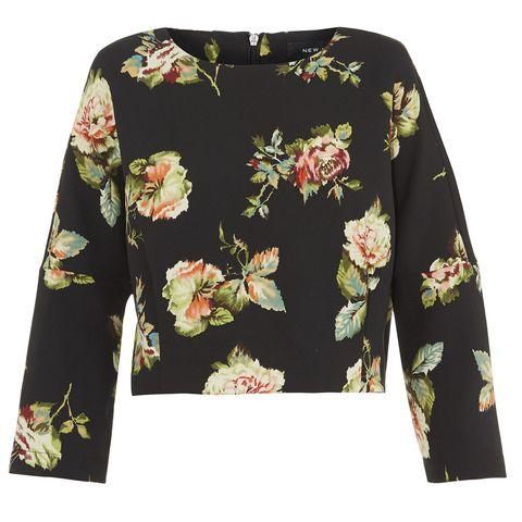 Yellow, Sleeve, Textile, Pattern, Fashion, Design, Sweater, Button, Pattern, Floral design,