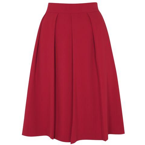 Sleeve, Textile, Red, Maroon, Orange, Costume, Carmine, Magenta, Costume design, Waist,