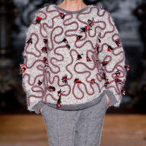 Sleeve, Textile, Pattern, Fashion, Wool, Street fashion, Woolen, Visual arts, Design, Sweater,