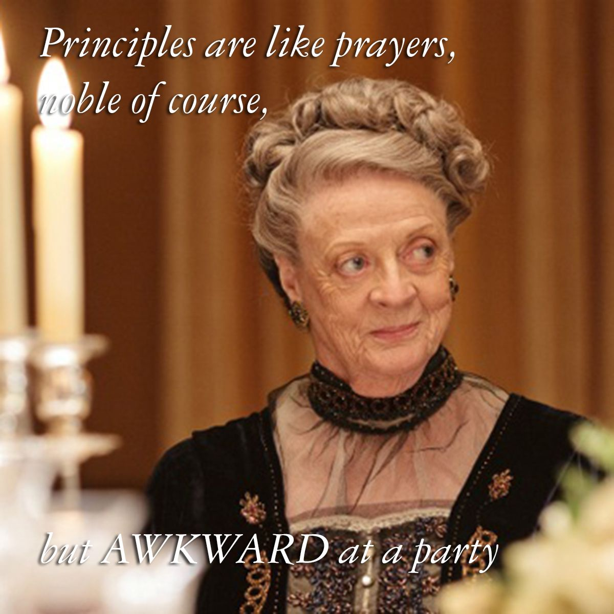 The best Maggie Smith Dowager Violet Downton Abbey quotes