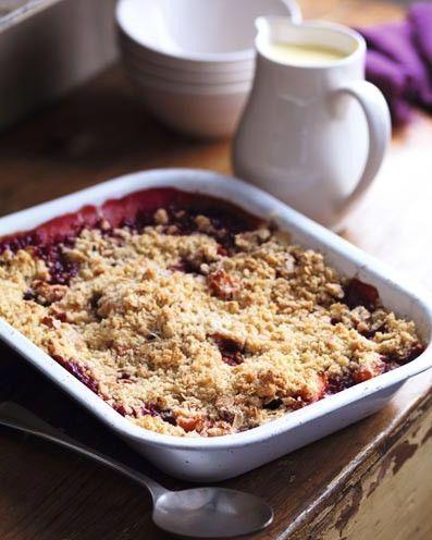 best plum recipes plum and apple crumble