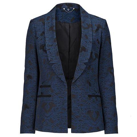 Clothing, Coat, Collar, Sleeve, Textile, Outerwear, Pattern, Blazer, Fashion, Button,