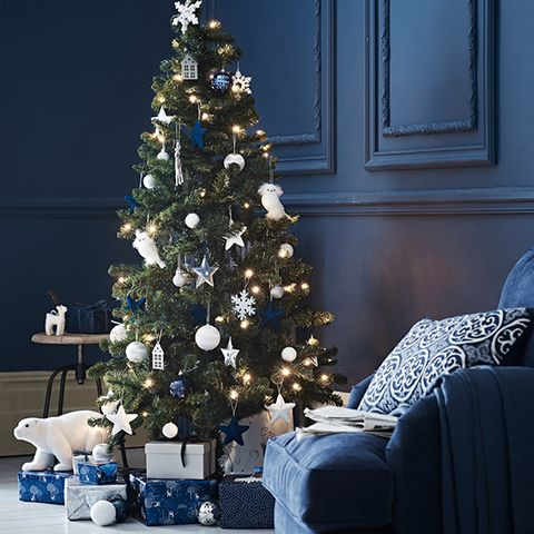 blue christmas tree - British Christmas Tree Decorations