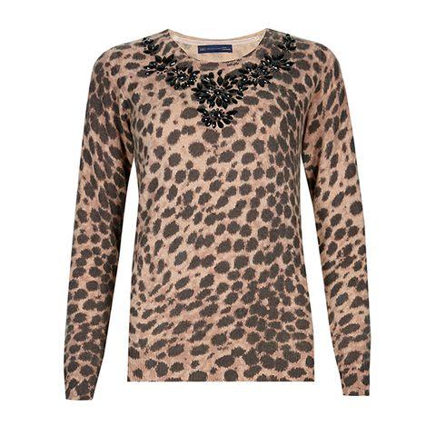 Brown, Product, Yellow, Sleeve, Pattern, Textile, White, Orange, Fashion, Neck,