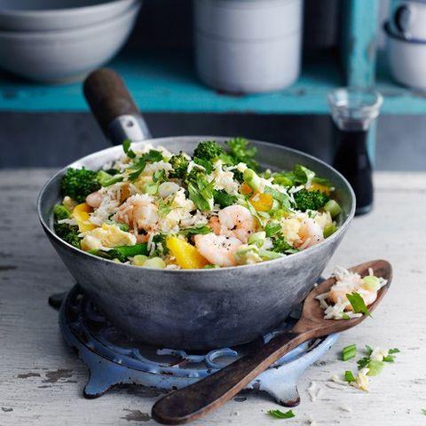Prawn, veg and egg fried rice