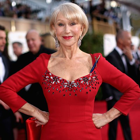 Red, Dress, Premiere, Fashion, Bangs, Blond, Feathered hair, Makeover, Carpet, Fashion design,