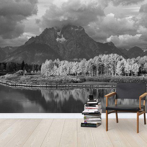 Wood, Mountainous landforms, Natural landscape, Landscape, Mountain range, Highland, Furniture, Monochrome photography, Outdoor furniture, Mountain,