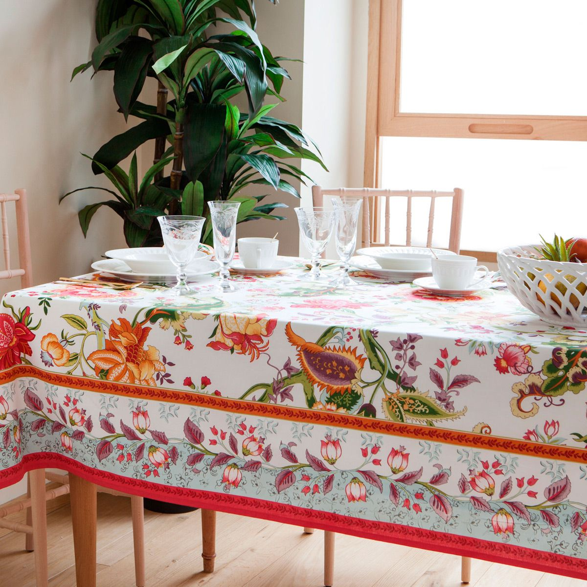 Genial Floral Cotton Tablecloth And Napkin, From £9.99, Zara Home