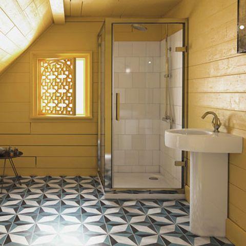 Lighting, Architecture, Floor, Plumbing fixture, Room, Flooring, Property, Tile, Wall, Interior design,