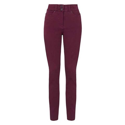 Clothing, Brown, Trousers, Denim, Jeans, Pocket, Standing, Waist, Maroon, Fashion design,
