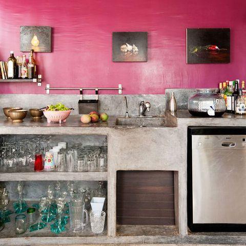Room, Countertop, Interior design, Interior design, Major appliance, Kitchen, Picture frame, Kitchen appliance, Cabinetry, Stove,