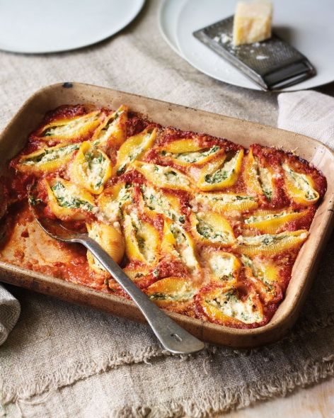 best pasta bake recipes spinach and ricotta stuffed pasta