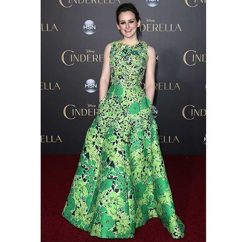 Clothing, Human, Dress, Green, Formal wear, Style, One-piece garment, Gown, Fashion, Pattern,