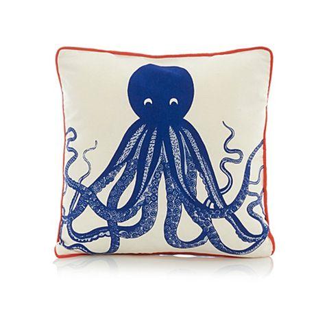 Blue, Textile, Cobalt blue, Octopus, Electric blue, Marine invertebrates, Creative arts, Cephalopod, Illustration, Invertebrate,