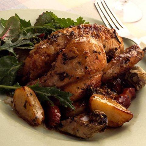 Food, Ingredient, Hendl, Meat, Recipe, Chicken meat, Cooking, Leaf vegetable, Turkey meat, Dish,