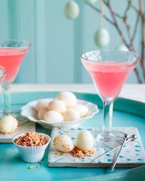 summer cocktail recipes rhubarb martini