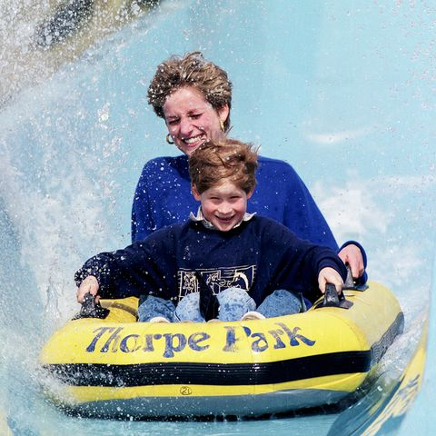 Blue, Fun, People, Recreation, Leisure, Happy, Facial expression, Outdoor recreation, Personal protective equipment, Child,