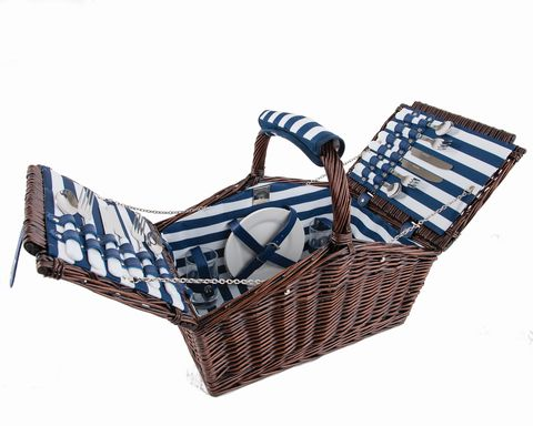 Brown, Basket, Wicker, Storage basket, Home accessories, Electric blue, Picnic basket,