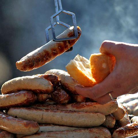 Food, Knackwurst, Cervelat, Ingredient, Meat, Italian sausage, Breakfast sausage, Kielbasa, Sausage, Breakfast,